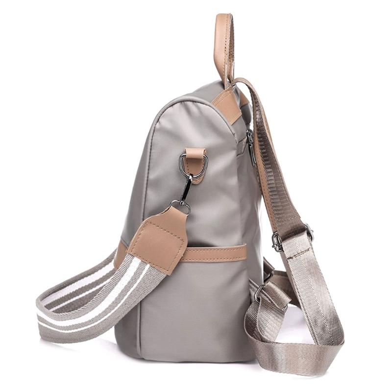 купить Waterproof Multifunction Nylon Backpack Women Anti-theft Travel Rucksack New