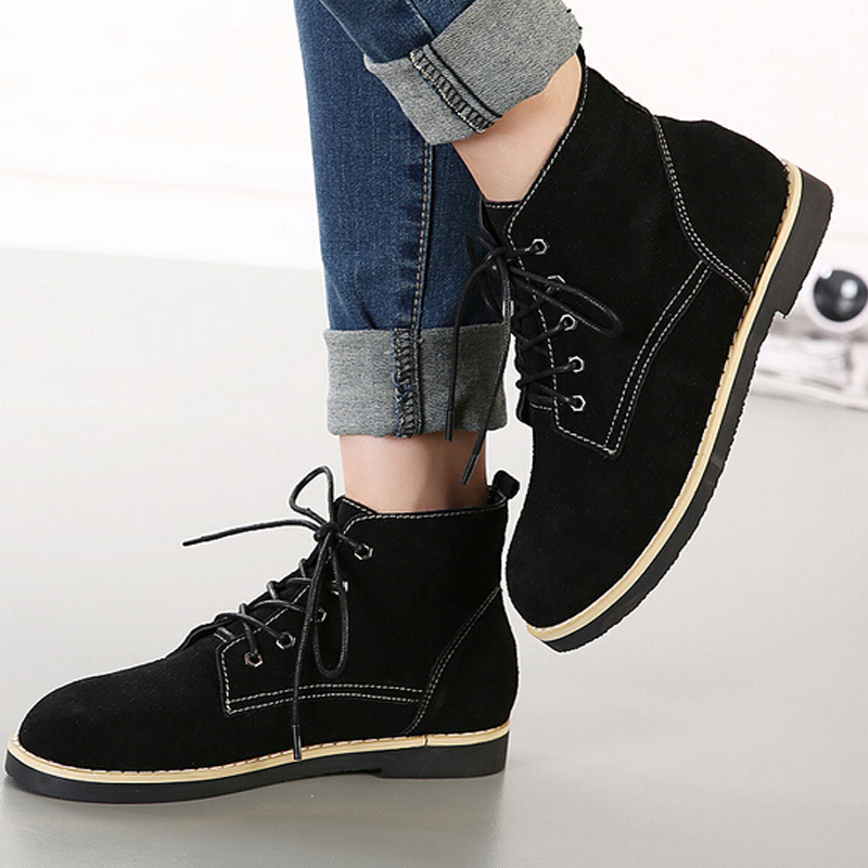 Ankle For Vintage Style Zapatos Boots Womens European Marting T57vYSTq