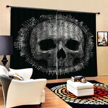 Роскошная затемненная 3D оконная занавеска s для гостиной спальни черная занавески