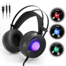 Combaterwing M170 Pro Over-Ear Stereo Gaming Headset 3.5mm USB PC Gamer Headphone With Microphone + Breathing LED Lights