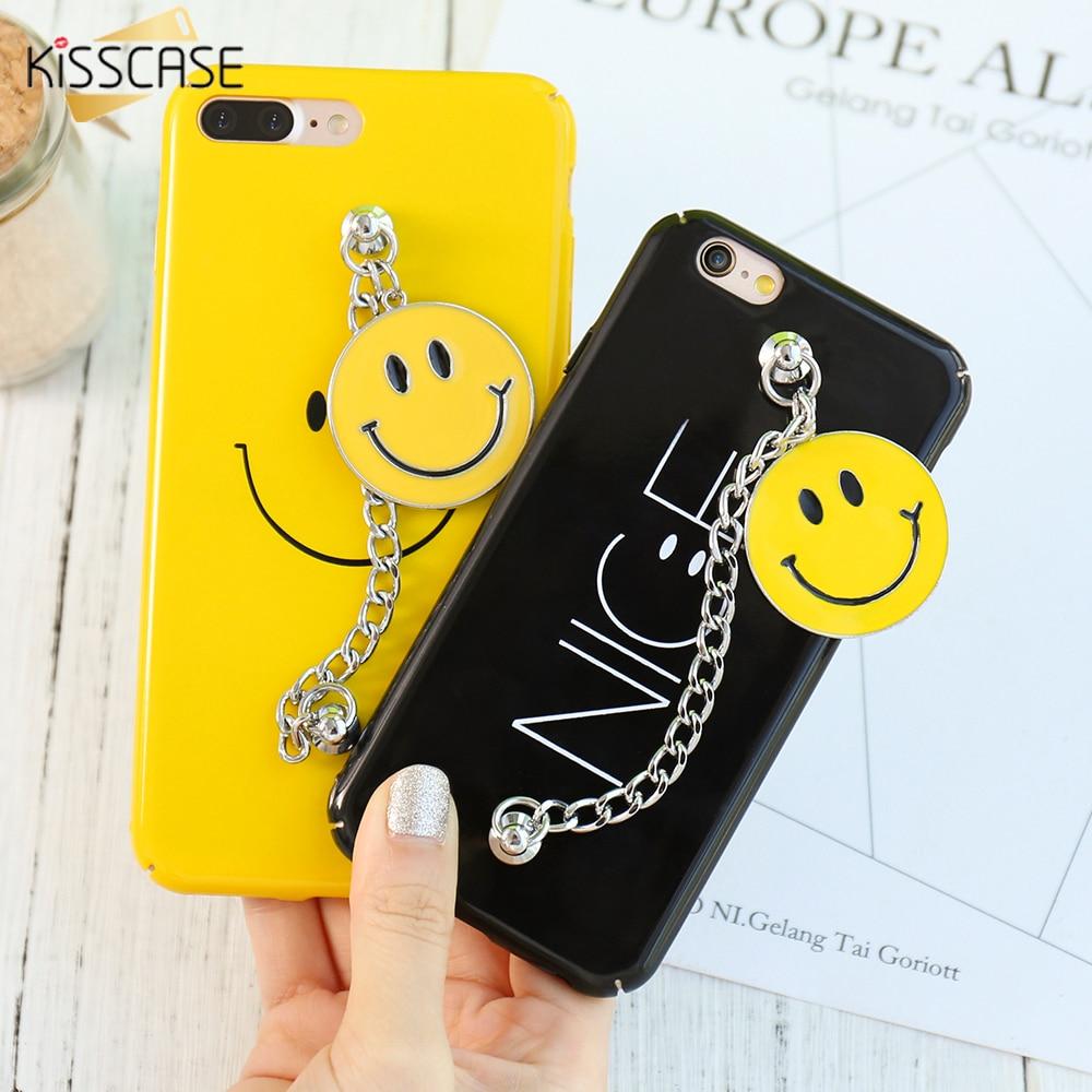 0ea896da9a KISSCASE Case For iPhone 7 7 Plus 6 6S Plus Smile Face Chain Bracelet Hard  Plastic