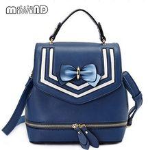 Miwind-F в полоску с бантом цвет темно-сумки на плечо, женщины famus бренд школьные сумки, Новый оригинальный мешок, дамы Mochila рюкзак