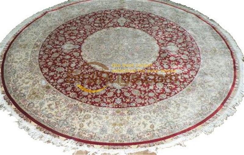 Tapis persan en soie tapis persan tissé à la main tapis en laine cadeau salon Carpetgc117psilkyg28