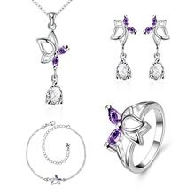 S018-B Fashion popular silver plated jewelry sets for sale