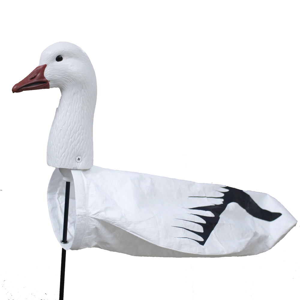 Al aire libre Señuelos de caza Tyvek Pantalla de impresión Windsock Eva plástico ganso de nieve viento Calcetines plástico ganso señuelo