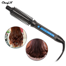 New Electric Hair Straightening Brush Curling Iron Brush Ceramic Hair Curler Rollers Comb Hair Straighter Brush
