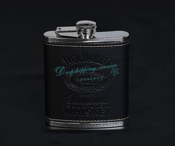 Hip Flask 7oz set Portable Stainless Steel Flagon Wine Bottle Gift Box Pocket Flask Russian Flagon Drop/2016 New