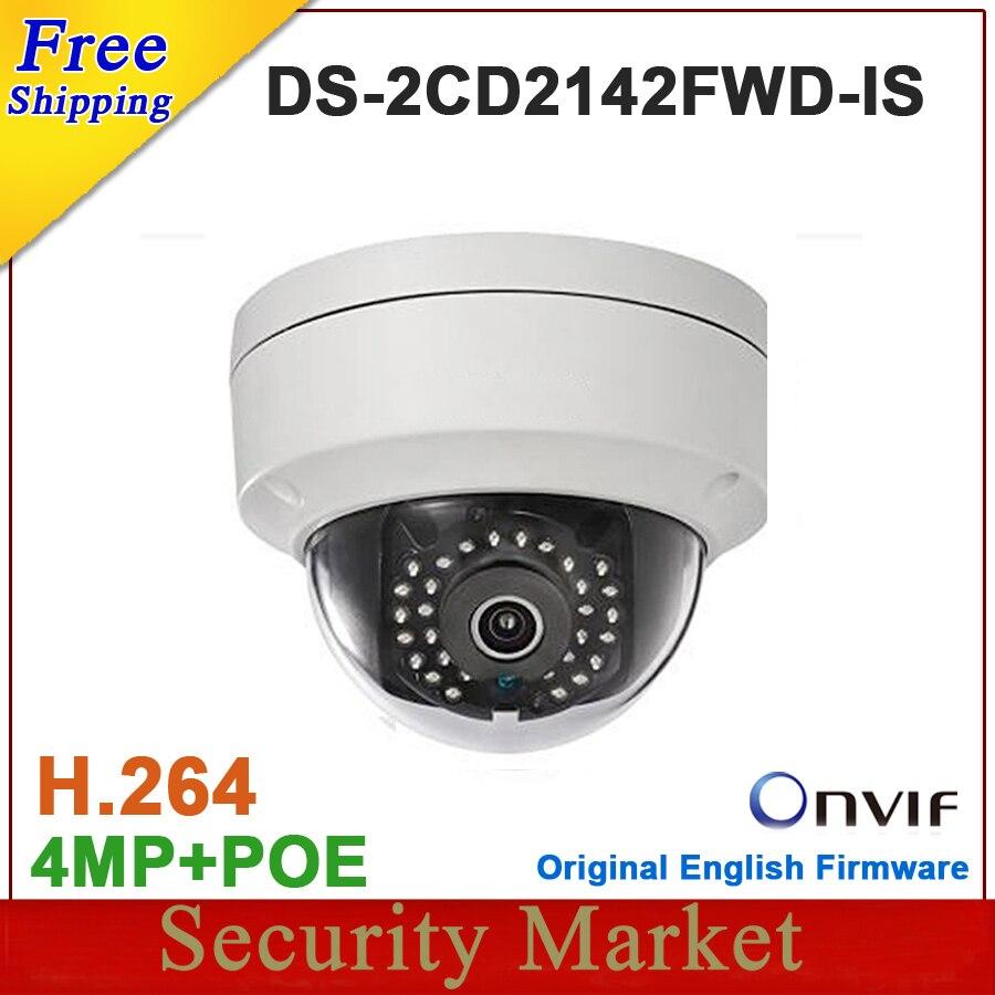 bilder für Ursprüngliche Englisch version DS-2CD2142FWD-IS 4MP dome kamera CCTV IP POE IR IP67 mini Ipc DS-2CD2142FWD-IS