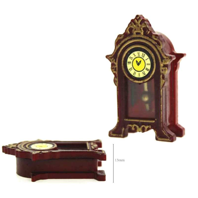 Miniature dolls house accessories Pendulum Wooden Table Clock 1:12th scale size