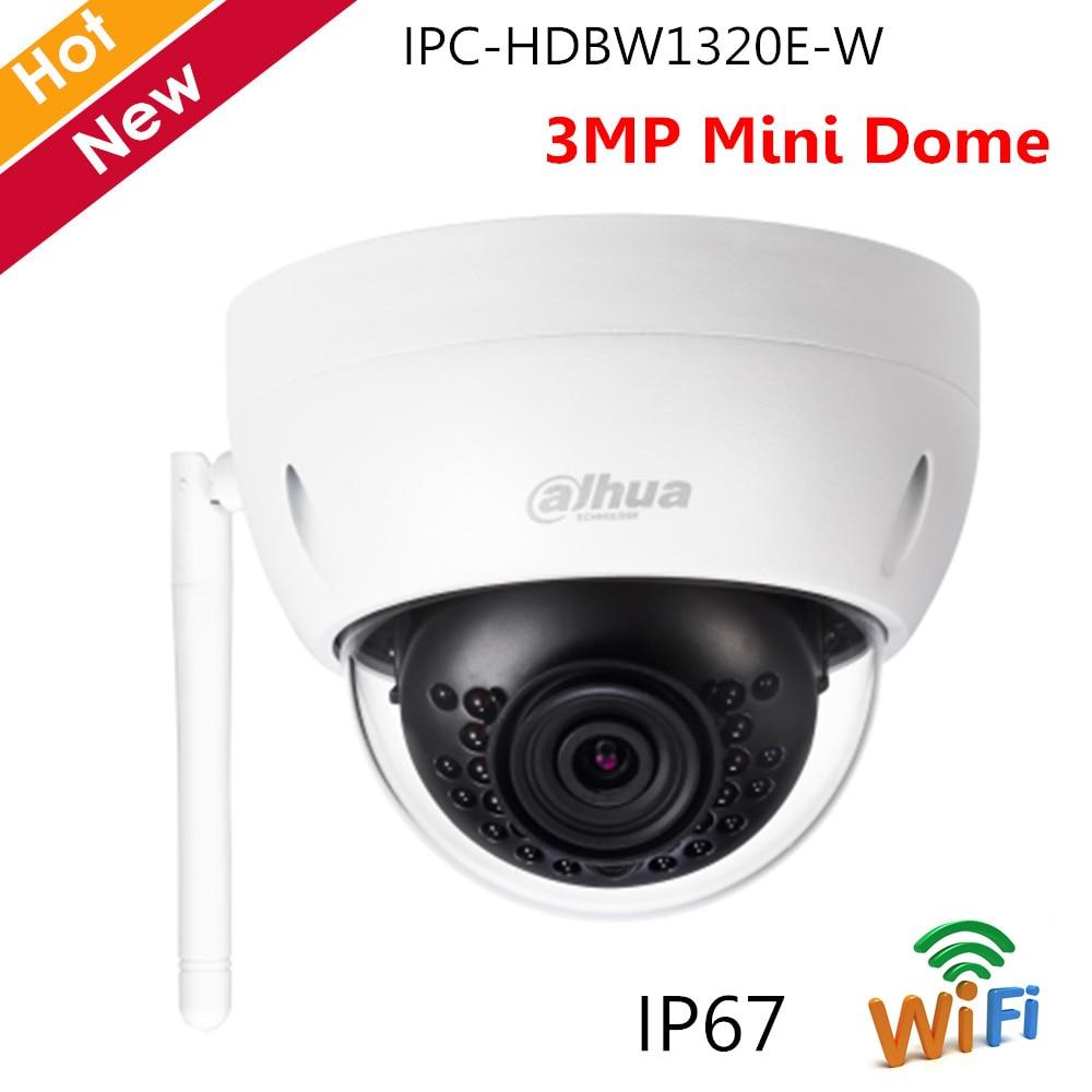 Dahua IPC-HDBW1320E-W 3MP IR 30M IP67 H.264 Mini-Dome Wi-Fi IP Network Camera