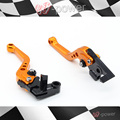 Para KTM DUKE 125/200/390 RC 390 RC 200 accesorios de la motocicleta de aluminio DEL billete DEL CNC cortos de embrague del freno palanca de Naranja
