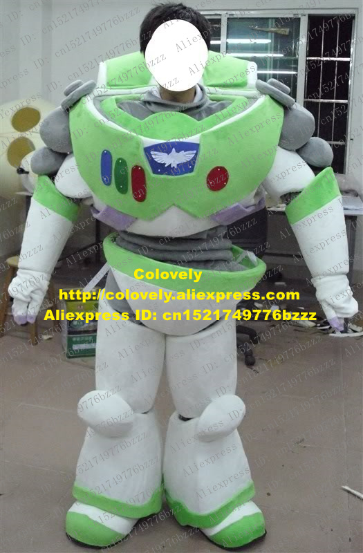 Toy Story Strong : Cool green white buzz lightyear mascot costume mascotte