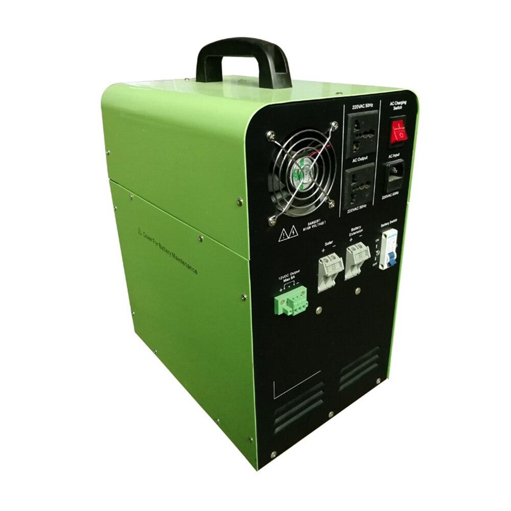 300w Portable onde sinusoïdale Pure système de production d'énergie solaire onduleur solaire batterie intégrée 500 W-1500 W