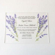 Romantic Water Color Style 5x7inch Frosted Acrylic Wedding Invitation Cards 100 Pieces Per Lot