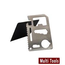 Самообороны Поставки Multi Tool самообороны инструмент Открытый Выживания Отдых На Природе для Pocket Военная Кредитная Карта Нож