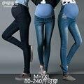 2017 плюс размер джинсы материнства брюки весна и осень длинные брюки плюс размер одежды для беременных, тонкий для веса 40-120kgs