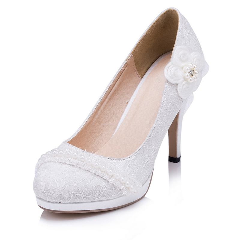 Online Get Cheap Ivory Wedding Shoes Aliexpress