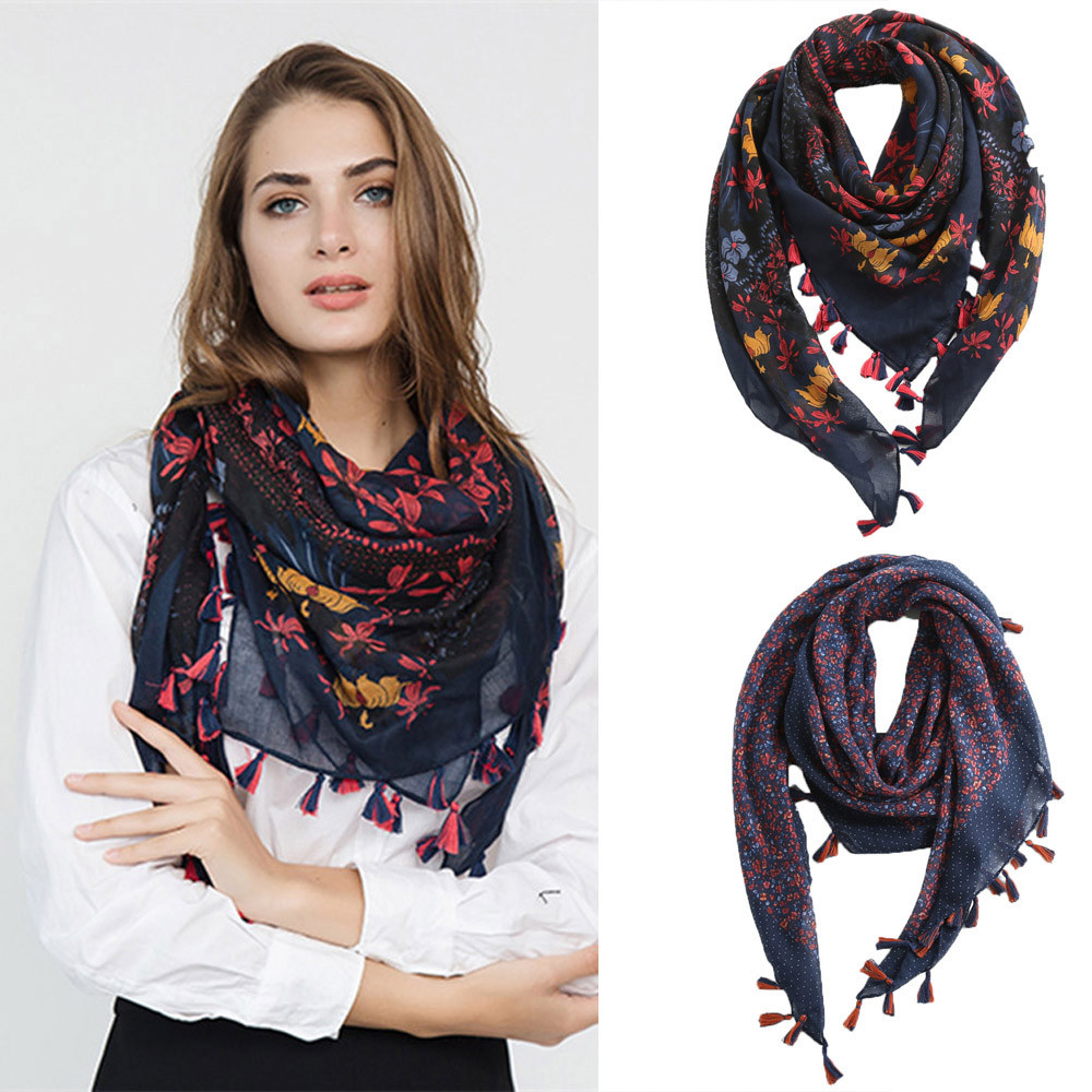 Women Silk   Scarf   Euro Leopard Print Square Head   Scarves     Wraps   Luxury Brand Quality Female Foulard Satin Shawls Hijab 90*90cm