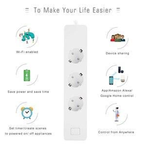 Image 2 - Inteligentna wtyczka, listwa zasilająca, WiFi Surge Protector czasomierz bezprzewodowy gniazdo współpracuje z Google Home, Alexa