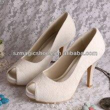 Wedopus MW096 Женщины Кот Кружева Свадебные Пром Обувь Высокие Каблуки леди Насосы