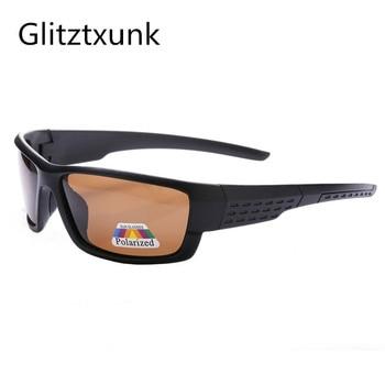 d7b11394eb Glitztxunk sol polarizadas hombres UV400 marca diseñador gafas de sol  cuadrado de revestimiento negro conducción pesca gafas Oculos