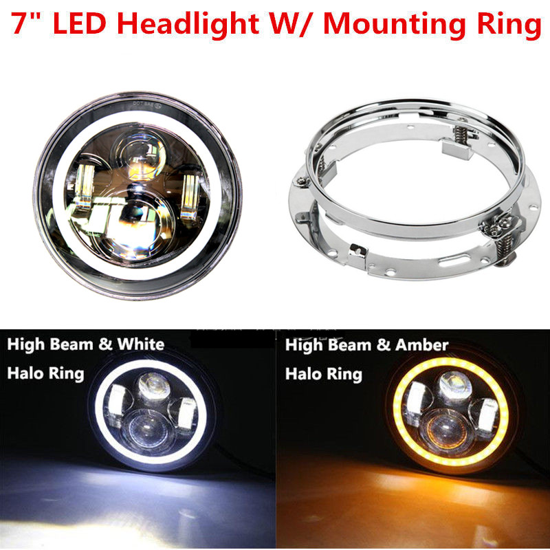 Each of 1pcs 7 Projector Daymaker LED Headlight Mounting Ring for Harley Road Street Glide king ring street album no 1