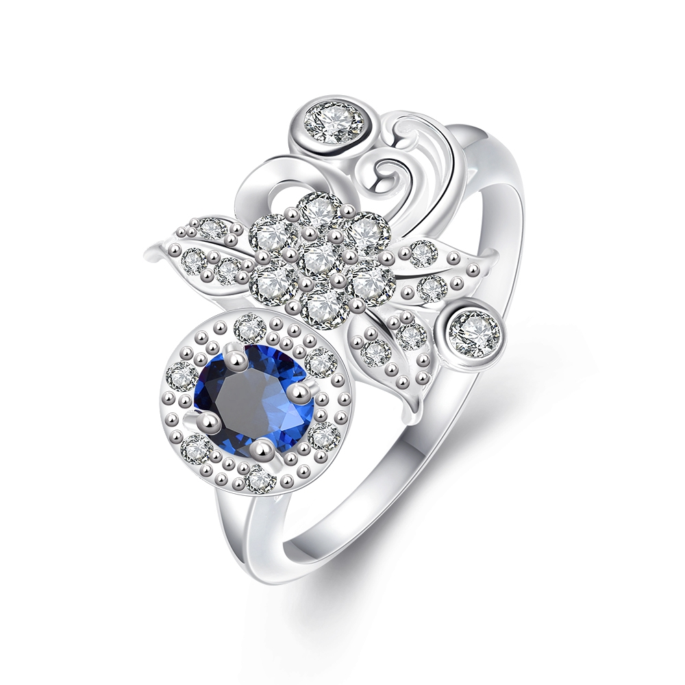 Sales Silver Ring Aneis Cz Simulated Diamonds Jewelry Fashion Acessories  Ring Aneiss Engagement Jewelry For Women