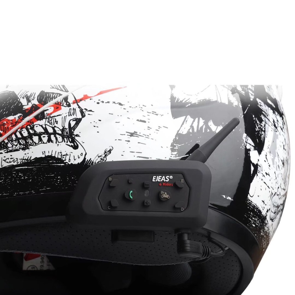 041d380e594 EJEAS V6 Pro Bluetooth Motorcycle Communicator Helmet Intercom 850mAh Moto  Headset With Mic 1200m Interphone For 6 Riders
