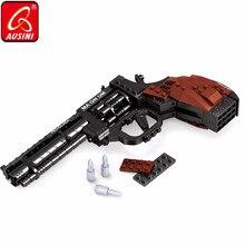 Guns Toys Revolver Pistol Bullet-Magnum Model Building-Blocks Army-Weapon Kids Bricks