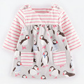 children clothing angry princess dress girl beach full sleeve animal dresses pre-school flower dresses clothes for fall winter