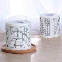 1 рулон, 2 слоя, новинка, забавный номер, Sudoku, печатный туалет, для ванной, смешная туалетная бумага, салфетки, принадлежности для ванной, Jag, по...