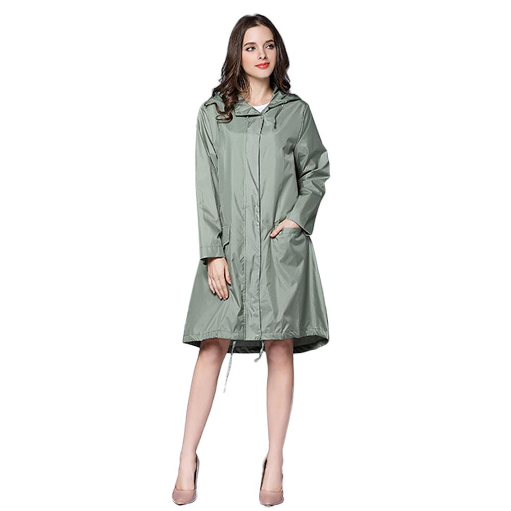 100% top quality popular stores new selection Long Raincoat Women Waterproof Windproof Hood Ladies Thin Rain Coat Ponchos  Jackets Female Chubasqueros Mujer Capa De Chuva