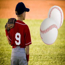 White Base Ball Baseball Practice Trainning PU Leather Softball Hand Sewing Sport Team Game For Children BQ-1