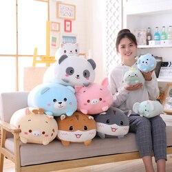 60cm animal doce dinossauro & porco & gato & urso kawaii brinquedo de pelúcia macio dos desenhos animados panda hamster elefante veados boneca recheada travesseiro do bebê presente