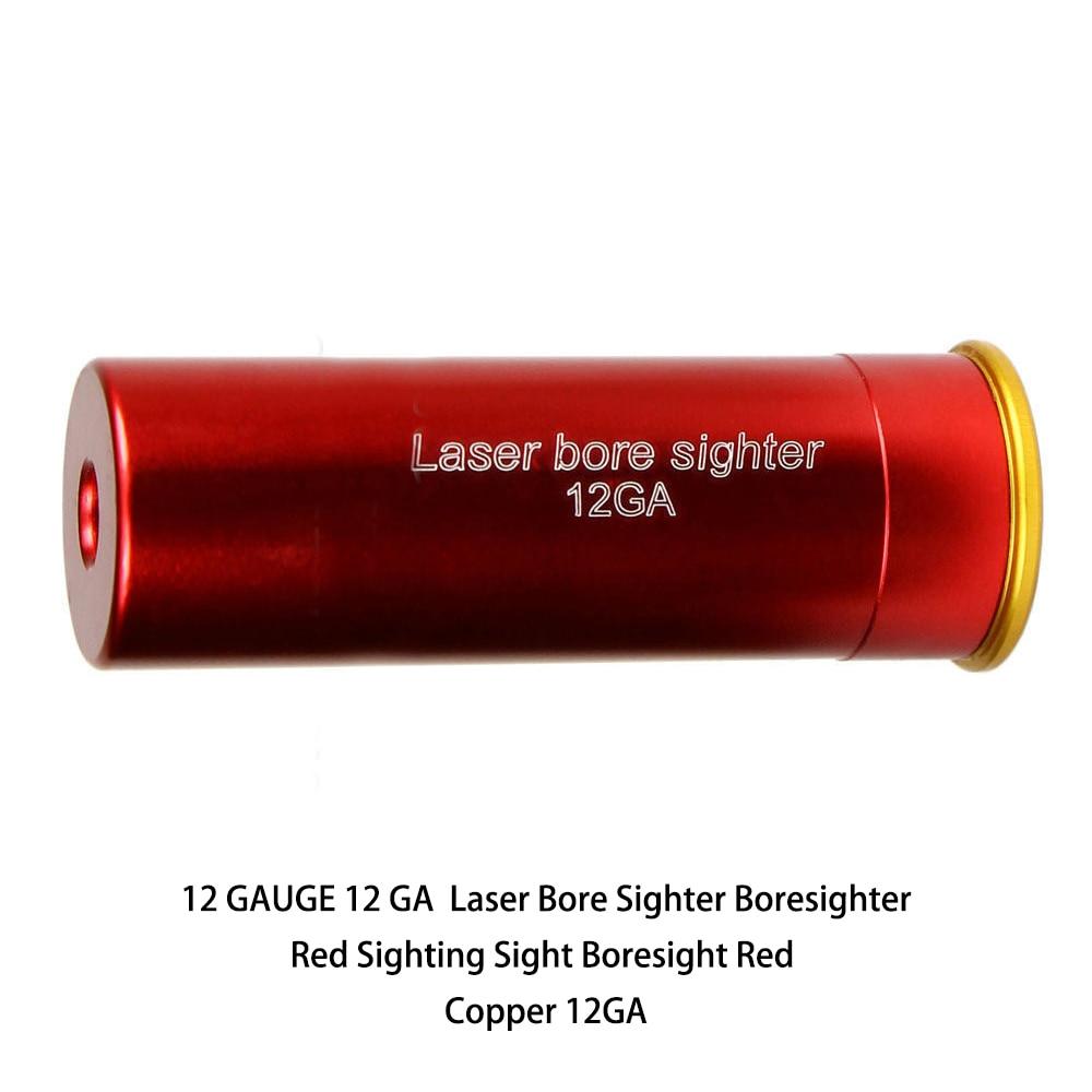 12 GAUGE 12 GA Laser Bore Sighter Boresighter Red Sighting Sight Boresight Red Copper 12GA