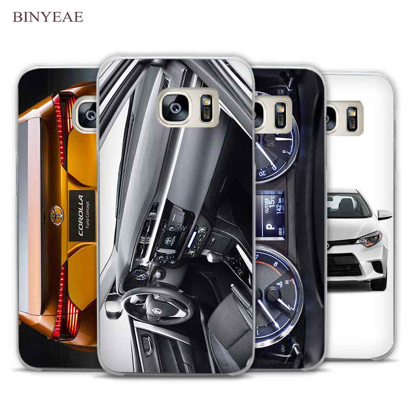 BINYEAE Funny toyota corolla stance Clear Phone Case Cover for Samsung Galaxy Note 2 3 4 5 7 S3 S4 S5 Mini S6 S7 S8 Edge Plus