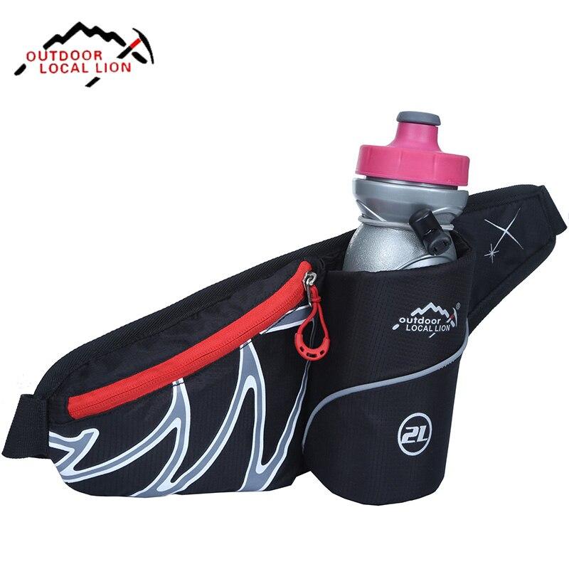 Prix pour En plein air Voyage Running Sport Taille Pack D'eau Léger Ceinture Sac Multifonction Hommes Femmes Fanny Pack Avec Porte-Bouteille