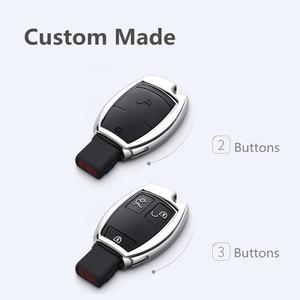 Image 2 - 2019 TPU Car Key Case Cover For Mercedes Benz W203 W210 W211 W124 W202 W204 W212 W176 AMG Accessories Keychain Holder Keyring