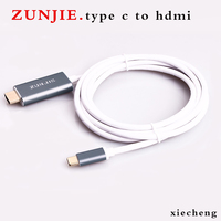 ZunJie USB 3 1 Type C To HDMI 1 8m AV Cable Adapter Converter USB C