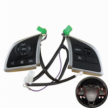 цена на For Mitsubishi Outlander 2013 2014 2015 Mirage 2014 2015 Audio Radio Control Cruise Control Switch Steering Wheel Switch Button