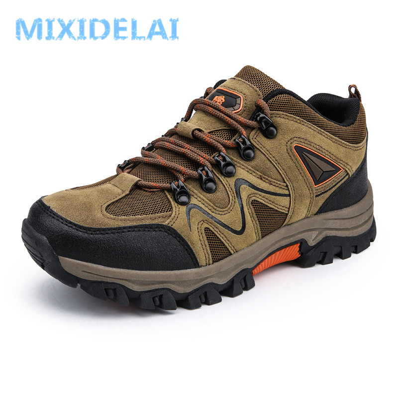 MIXIDELAI 2019 New Brand Spring Fashion Outdoors Sneakers Waterproof Men's Shoes Mens Combat Desert Casual Shoes Plus Size 36-47