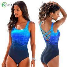 Градиентный Цветной купальник с перекрестной спинкой размера плюс женский купальник женский винтажный спортивный цельный пляжный купальник бикини