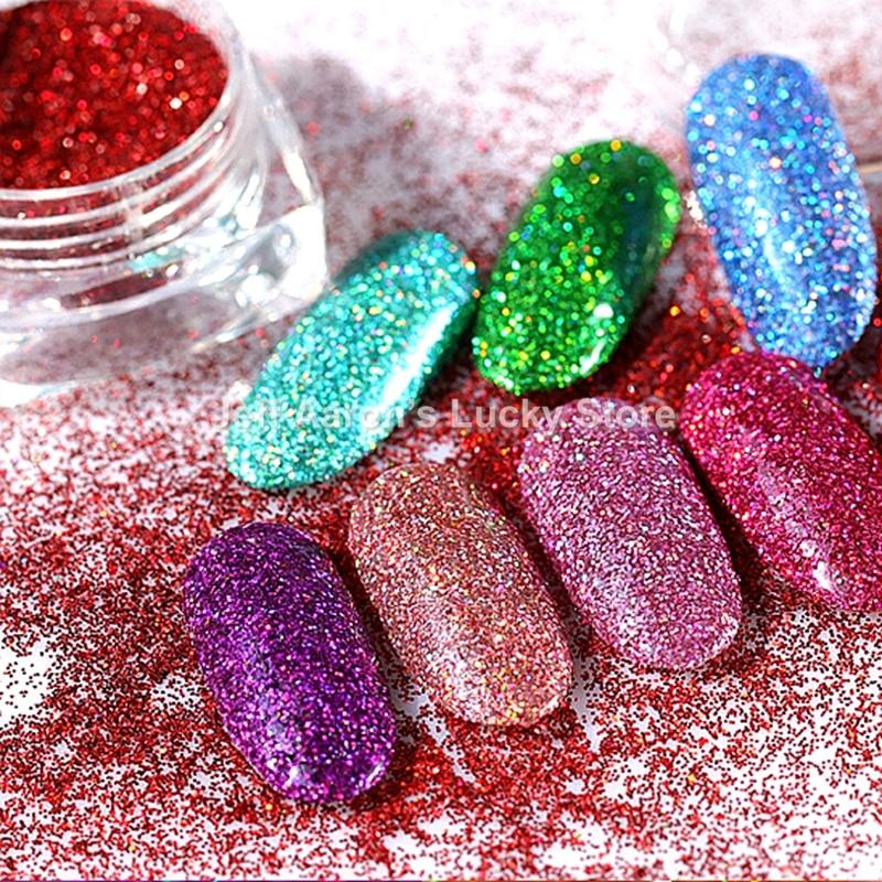 Acrylic Nail Powder Holographic: Holographic Acrylic Nail Glitter Powder For Nail Art