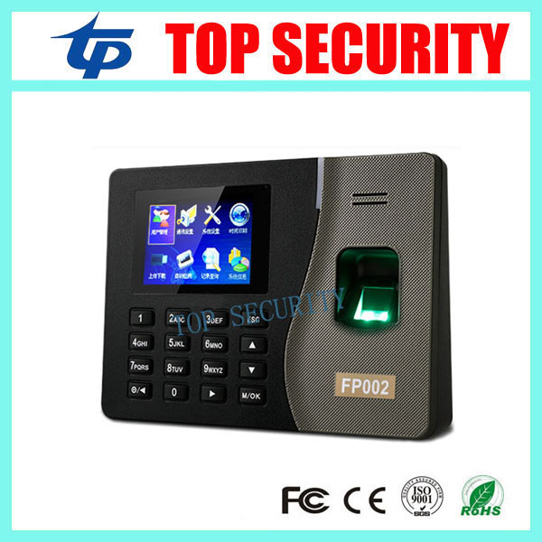 Cheap biometric fingerprint time attendance FP002 fingerprint time clock 5000 user capacity time attendance recording biometric face and fingerprint access controller tcp ip zk multibio700 facial time attendance and door security control system