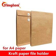 A4, коричневая крафт-бумага, держатель для файлов, конверты, сумки для хранения документов, органайзер, конверты со струной, для школы, офиса, проекта, папка, сумка