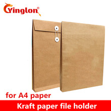A4 brown kraft paper file holder envelope bags document storage organizer envelopes with string school office project folder bag xiaobaomao a4 commercial business document bag tote file folder filing meeting bags pocket office bags pocket large capacity