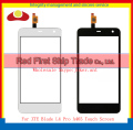 "High Quality 5.0"" For ZTE Blade L4 Pro A465 Touch Screen Digitizer Sensor Front Glass Lens Panel Black White+Tracking Code"