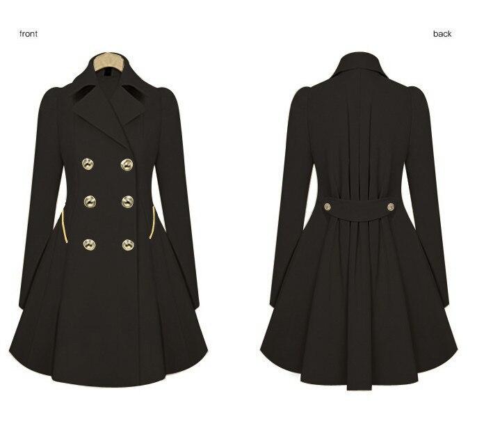Spring and Autumn Slim Long Commuter Jacket XL Women's Fashion Khaki Black Button Long Sleeve Basic Jacket Coat Outwear