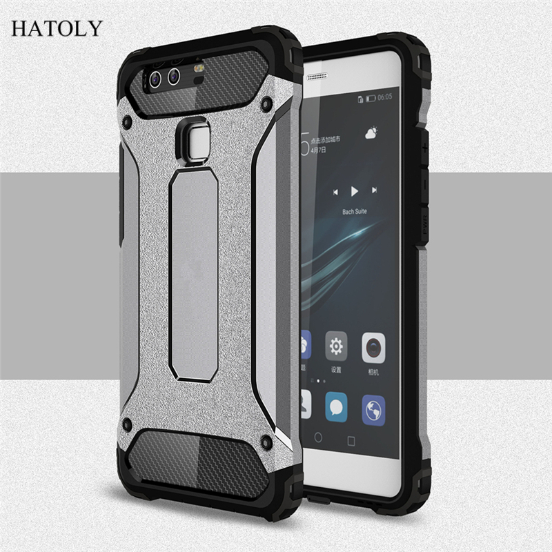 newest collection a9efa 56f71 US $2.68 37% OFF|HATOLY Cover Huawei P9 Lite Case Silicone Rubber Armor  Hard Back Phone Case For Huawei P9 Lite Cover For Huawei P9 Lite 2016 <-in  ...