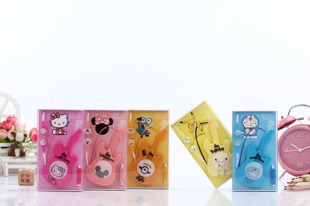 2Pcs Good Gift Cartoon Earphone Cute Wired 3.5mm In ear Plug ...
